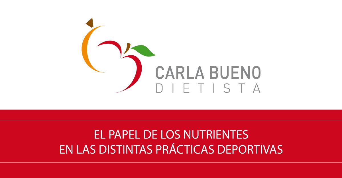 El papel de los nutrientes en las distintas prácticas deportivas
