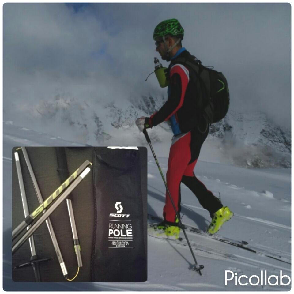 Test bastones SCOTT RUNNING POLE  para esquí de montaña.