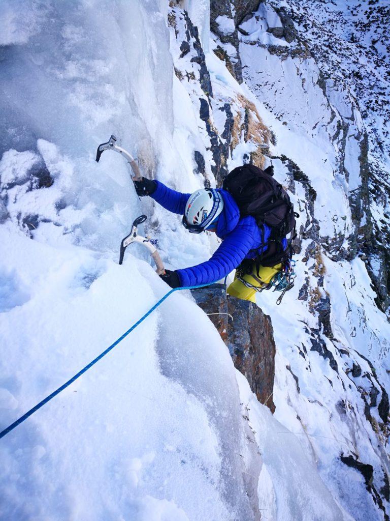 Escalada en hielo —Boca norte túnel de Bielsa—